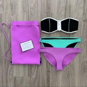 TRIANGL Zip Bandeau Bikini Set